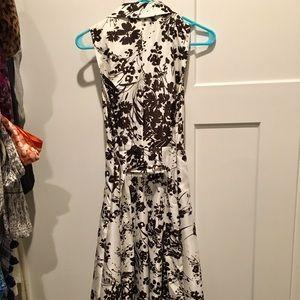 Collared Floral midi Dress